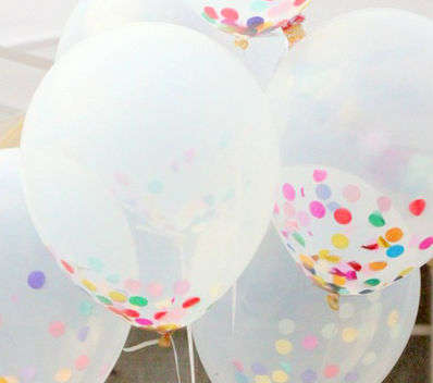birthday decoration ideas - Confetti balloons