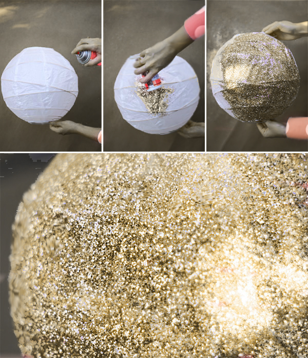Birthday decoration ideas - Glitter ball
