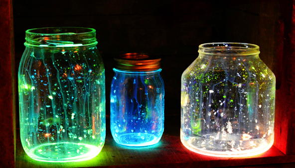 Birthday decoration ideas - Glowing jars