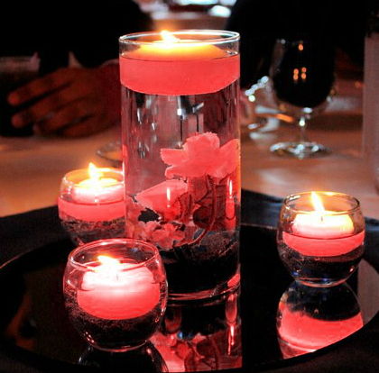 birthday decoration ideas - Candle centrepiece